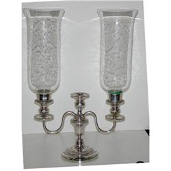 Pair of silverplated candle opera #2393696