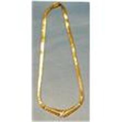 14kt gold diamond necklace. #2393701