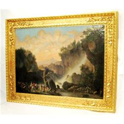 JC  Oil On Canvass Giltwood Frame #2393707