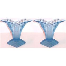 Walther Glass Greta Sapphire Blue Vases (2) #2393752