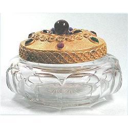 Heisey Powder Jar with Glass Jeweled Lid #2393817