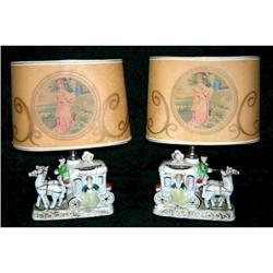 Cinderella, Horse and Carriage Table Lamps (2) #2393834