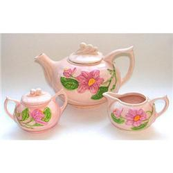 Hull Magnolia 3 Pc Teapot Set #2393836