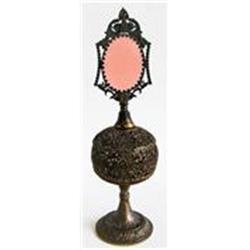 Apollo Jeweled Bronze Filigree Perfume Bottle #2393861