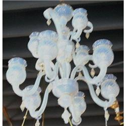 Murano Opalene Glass Chandelier #2393882