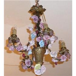 Antique French Bronze Chandelier #2393896