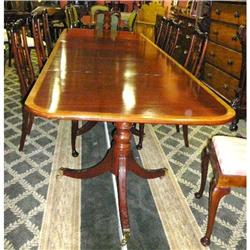 Triple Pedestal Mahogany  Dining Table #2393903