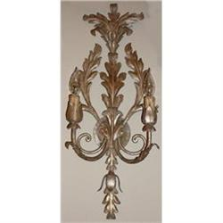 Pair of Tole Sconces Wall Lights #2393905