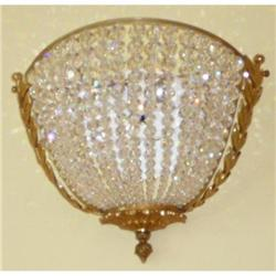 Pair of Bronze and Beaded Crystal Sconces Wall #2393906