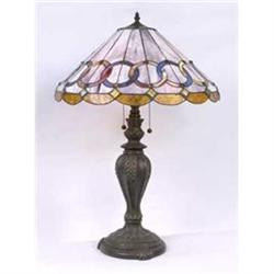 GLASS LAMP METAL BASE W MARBLE / NEW LIGHTING #2393913