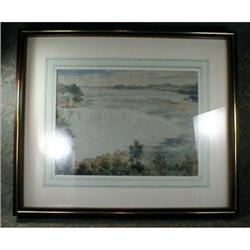 Niagara FALLS WaterCOLOR Framed - ANTIQUE - #2393929