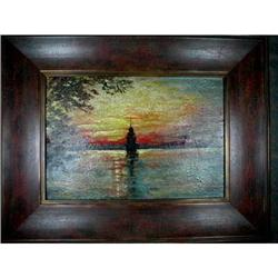 HUDSON RIVER Lighthouse Painting IMPRESSIONIST-#2393930