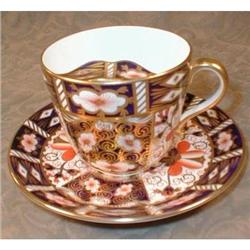 IMARI Mustache CUP Saucer -ROYAL Crown DERBY- #2393933