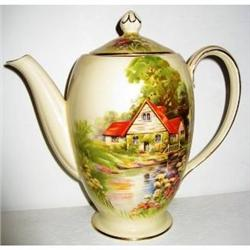Royal Winton Red Roof Coffee Pot #2393939