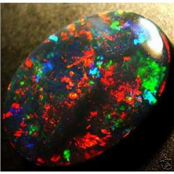 NATURAL SOLID BLACK OPAL  #2393947