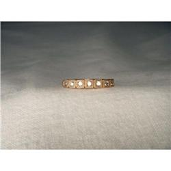 10K 14K Pink Rose Gold Diamond Wedding Band #2393977