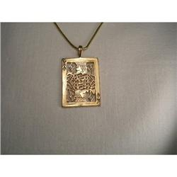14K Gold Diamond King of Diamonds Card Pendant #2393982