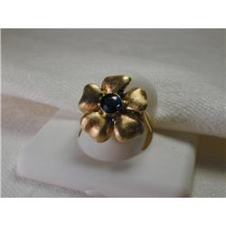Estate 14K YG Gold Tanzanite Floral Rose Ring #2393994