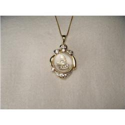 14K YG Gold Diamond Motion Zodiac Virgo Pendant#2394006