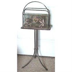 Standing English Victorian Magazine Rack #2394020