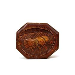 Old Japanese Bamboo Carved Box Pumpkin  #2394077