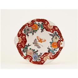 19C Japanese Imari Butterfly Tray Platter #2394080