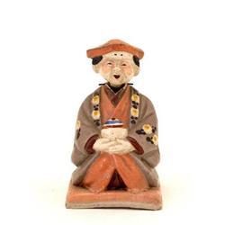 Japanese Kyoto Pottery Satsuma Nodder Doll #2394086
