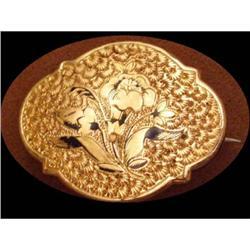 vintage Victorian 10KT gold Enamel  Chatelaine #2394101