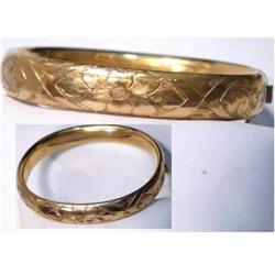 Victorian Gold filled fancy bangle bracelet #2394103