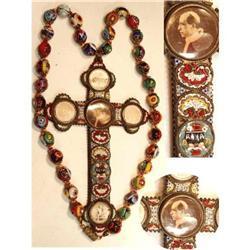 Rosary MICROMOSAIC millefiori murano glass HUGE#2394104