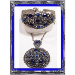 Vintage Czech DECO FILIGREE Bracelet necklace #2394106