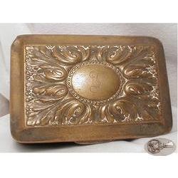 1800's Eoff & Shepherd silver fancy  hinged box#2394122