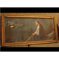 LARGE Carved Deco Frame Jesus on the Mount  #2394123