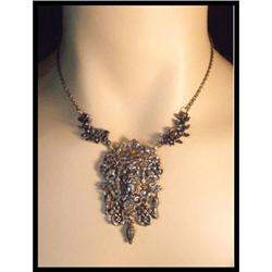 vintage Nouveau Cherub figural drop necklace #2394130