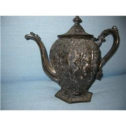 Silver Tea Pot Detailed Dutch Motif Hallmarark #2394132