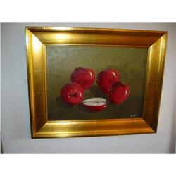 Still Life Apples Goldtone Contemporary Frame! #2394135