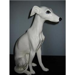 White Ceramic Greyhound! #2394138