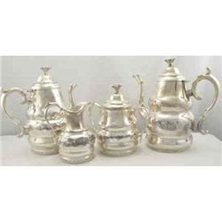 Tea Set 4 pieces Silver Plate c1900 Victorian #2394179