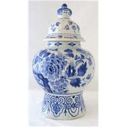 Delft Lidded Jar c1995 Large. Blue & White #2394182