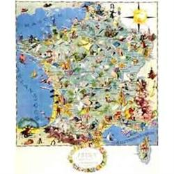 Original La France Gastronomique Map, 1948,  A,#2394210