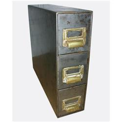 3-Drawer Metal Card Catalog #2394232