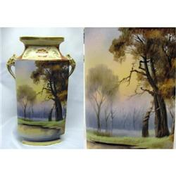 "Noritake Scenic 9-1/2"" Vase - Elephant Handles #2384935"