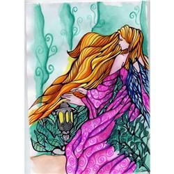 Original ART Fantasy Painting Fairy Watercolor #2384938