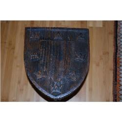 """Antique Carved """"Shield"""" Stool, c. 1890 #2384943"""