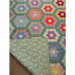 Antique Grandmother's Flower Garden Quilt #2384952