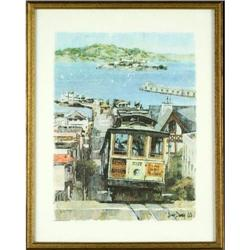 Print ?Trolley? signed Don Davey #2384953