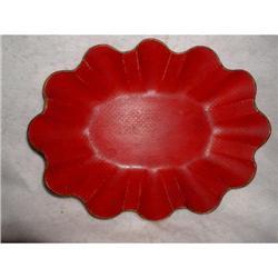 Papier Mache Bowl Napoleon III Red 19th Century#2384966