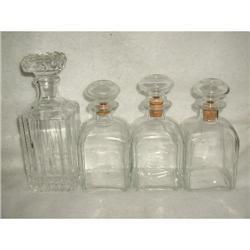 Set Bar Decanters Cut Glass C.1920 #2384969