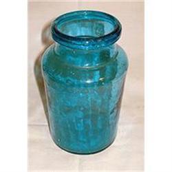 ANTIQUE MEDICAL BLUE POT CIRCA 1850 #2384977