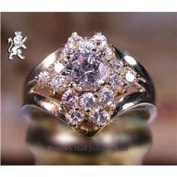 RHJ White Cubic Zirconium Cluster Ring on High #2384983